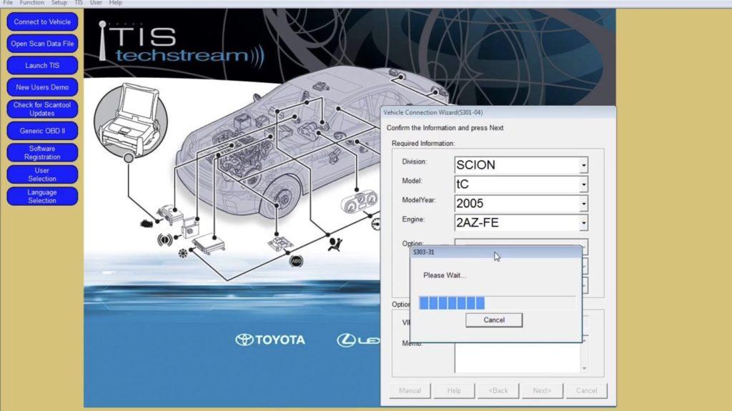 Toyota Lexus Scion smart chip transponder key fob keyfob TIS software tool Techstream programming instructions how to DIY DIY-time program