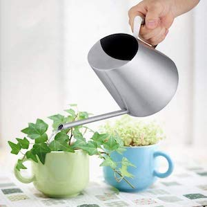 Fdit Stainless Steel Watering Can Pot Indoor House Plants Long Spout Can Modern Style Watering Pot
