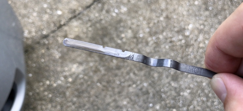 Checking Nissan CVT transmission oil fluid hot level using dipstick